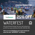 "Promotional Coupon Code ""WATERFEST"""