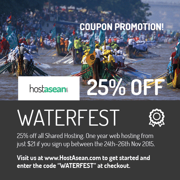 Hosting Coupon - WATERFEST