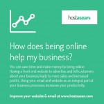 How does being online help my business?