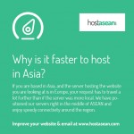 Why is it faster to host in Asia?