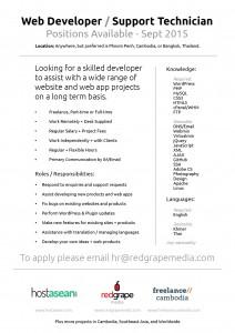 Web Developer - Job Ad - Sept 2015 - v1-01