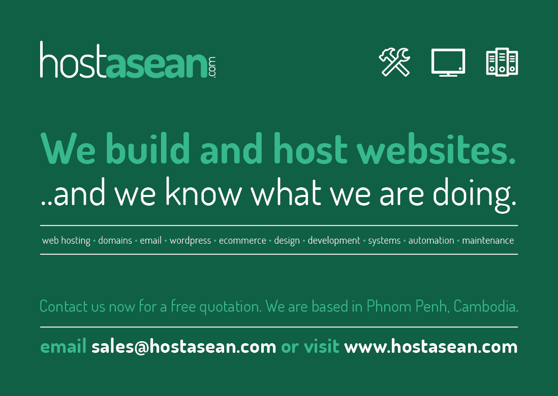 HostAsean Advert in B2B Cambodia