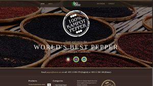 BoTree Kampot Pepper Website Design Cambodia