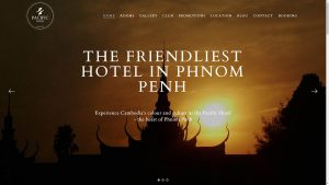 Pacific Hotel Phnom Penh Website Design