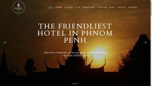 Pacific Hotel Phnom Penh Website Design