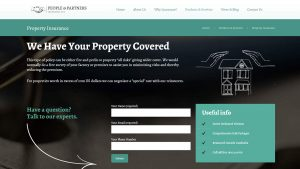People & Partners Insurance Website Design