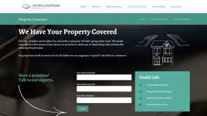 People & Partners Insurance Website Design